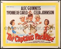 3k0010 CAPTAIN'S PARADISE English 1/2sh 1953 great art of Alec Guinness on ship juggling two wives!