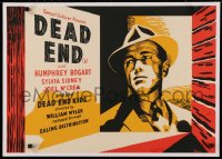 3k0011 DEAD END English 1/2sh R1944 William Wyler, cool art of top-billed Humphrey Bogart, rare!