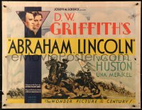 3k0012 ABRAHAM LINCOLN 1/2sh 1930 Walter Huston as Honest Abe, D.W. Griffith, Civil War, ultra rare!