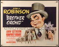 3k0015 BROTHER ORCHID style B 1/2sh 1940 great art of Edward G. Robinson, Bogart billed, ultra rare!