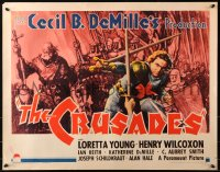 3k0017 CRUSADES 1/2sh 1935 Cecil B DeMille epic, art of Henry Wilcoxon as King Richard, ultra rare!