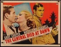 3k0020 GENERAL DIED AT DAWN 1/2sh 1936 mercenary Gary Cooper in China loves Madeleine Carroll, rare!