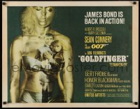 3k0021 GOLDFINGER 1/2sh 1964 Sean Connery as James Bond & Honor Blackman in gold Shirley Eaton!