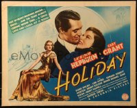 3k0022 HOLIDAY 1/2sh 1938 will Cary Grant choose Katharine Hepburn or Nolan, ultra rare!