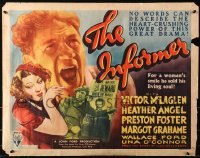 3k0023 INFORMER 1/2sh 1935 John Ford, Victor McLaglen, Heather Angel, reward poster, ultra rare!