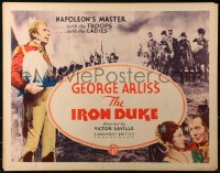 3k0024 IRON DUKE style B 1/2sh 1935 George Arliss as The Duke of Wellington, Napoleon's master, rare!