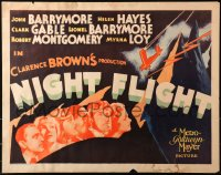 3k0029 NIGHT FLIGHT 1/2sh 1933 John & Lionel Barrymore, Hayes, Gable, Montgomery, Loy, ultra rare!
