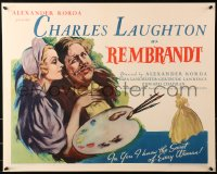 3k0031 REMBRANDT 1/2sh 1936 art of Charles Laughton as the famous Dutch artist w/Lanchester, rare!