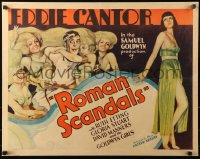 3k0032 ROMAN SCANDALS 1/2sh 1933 great art of Eddie Cantor in chariot with sexy Goldwyn Girls, rare!