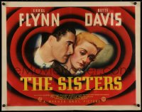 3k0035 SISTERS style A 1/2sh 1938 Errol Flynn & Bette Davis have true love, but many problems, very rare!