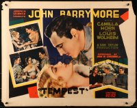 3k0039 TEMPEST 1/2sh 1928 best romantic close up of John Barrymore & beautiful Camilla Horn, rare!