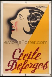 3k0182 CECILE DEFORGES linen 31x47 French special poster 1939 Gaston Girbal art of the French singer!