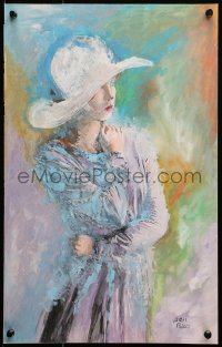 3k0002 LOVE LETTERS 12x19 original art 1940s colorful art of Jennifer Jones by Aris Bacci!