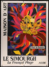 3k0176 MAISON D'ART LE SIMOURGH linen 45x64 French museum/art exhibition 1970s Pinet de Gaulade art!