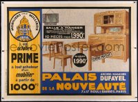 3k0168 PALAIS DE LA NOUVEAUTE linen 45x62 French advertising poster 1920s department store furniture!