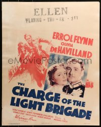 3k0007 CHARGE OF THE LIGHT BRIGADE jumbo WC 1936 Errol Flynn, Olivia De Havilland, Curtiz, rare!