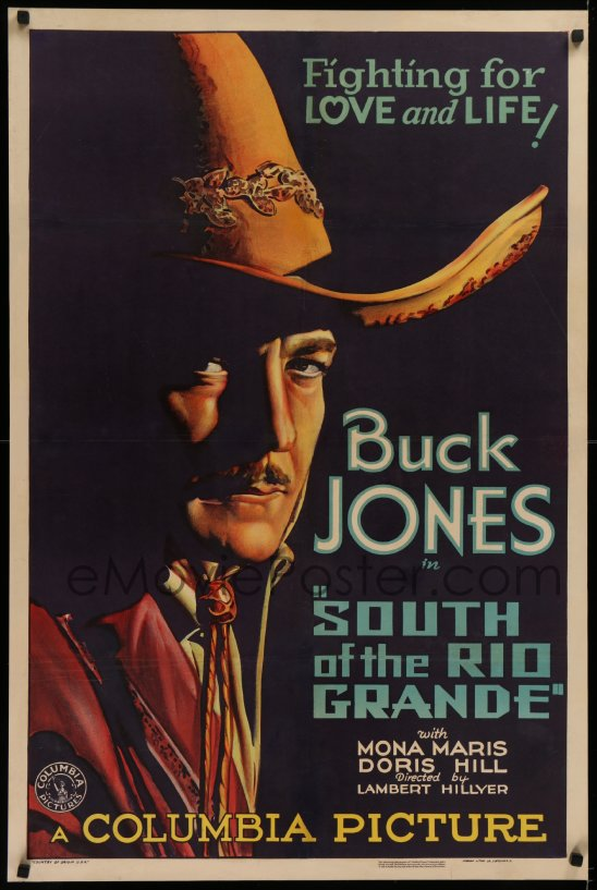 South of the Rio Grande Buck Jones Vintage Movie Poster Lithograph S2 Art