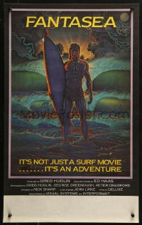 3p0015 FANTASEA Aust special poster 1979 cool Sharp artwork of surfer & ocean!