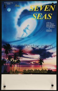 3p0017 TALES OF THE SEVEN SEAS Aust special poster 1981 cool surfing image and art of surfer in sky!