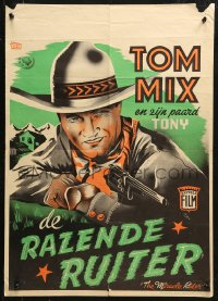3p0004 MIRACLE RIDER Dutch 1935 Tom Mix is the idol of every boy in the world, different art!