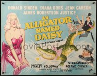 3p0038 ALLIGATOR NAMED DAISY English 1/2sh 1957 artwork of sexy Diana Dors in skimpy outfit!