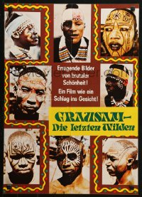 3p0018 LAST SAVAGE German 16x23 1979 Addio ultimo uomo, Italian pain documentary, different and wild!