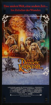 3p0022 DARK CRYSTAL German 12x25 1982 Jim Henson & Frank Oz, cool different fantasy art by Napoli!
