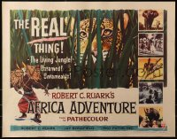 3p0768 AFRICA ADVENTURE style B 1/2sh 1954 this is the REAL Africa, huge close up art of big cat!