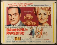 3p0776 BACHELOR IN PARADISE 1/2sh 1961 world's greatest lover Bob Hope romances sexy Lana Turner!