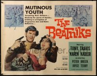 3p0783 BEATNIKS 1/2sh 1959 mutinous youth screaming their defiance, mocking the course of society!