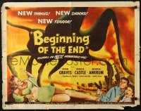3p0785 BEGINNING OF THE END 1/2sh 1957 U.S. may use A-bomb to destroy giant bugs, Peter Graves!