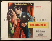3p0794 BIG HEAT 1/2sh 1953 Glenn Ford is going to make sexy Gloria Grahame pay, Fritz Lang!