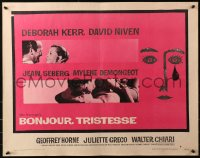 3p0797 BONJOUR TRISTESSE style B 1/2sh 1958 directed by Otto Preminger, great Saul Bass artwork!