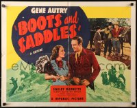 3p0798 BOOTS & SADDLES style A 1/2sh R1940s western cowboy Gene Autry and pretty Judith Allen, rare!