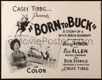 3p0801 BORN TO BUCK 1/2sh 1966 Casey Tibbs presents & directs, cool rodeo images!