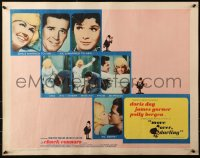3p1004 MOVE OVER, DARLING 1/2sh 1964 many images of James Garner & pretty Doris Day!
