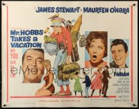 3p1006 MR. HOBBS TAKES A VACATION 1/2sh 1962 great wacky full-length art of tourist Jimmy Stewart!