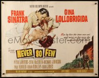 3p1015 NEVER SO FEW style A 1/2sh 1959 art of Frank Sinatra & sexy Gina Lollobrigida laying in bed!