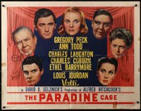3p1033 PARADINE CASE style A 1/2sh 1948 Alfred Hitchcock, Gregory Peck, Ann Todd, Valli, Coburn!