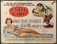 3p1036 PARTY GIRL style B 1/2sh 1958 you'll meet sexiest Cyd Charisse at the roughest parties!