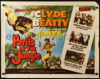 3p1039 PERILS OF THE JUNGLE 1/2sh 1953 Clyde Beatty in his great African adventure, ultra-rare!