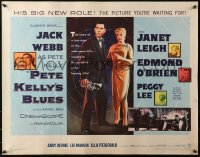 3p1040 PETE KELLY'S BLUES 1/2sh 1955 Jack Webb smoking & holding trumpet, sexy Janet Leigh!