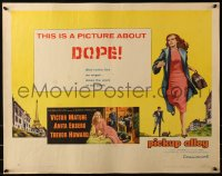 3p1041 PICKUP ALLEY style A 1/2sh 1957 art of Anita Ekberg running, this is a picture about DOPE!