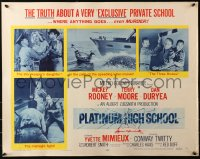 3p1042 PLATINUM HIGH SCHOOL style A 1/2sh 1960 inside story of a school where money can buy murder!