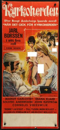 3p0013 LUSTFUL VICAR Swedish stolpe 1970 Kyrkoherden, Swedish religious sex, Bjorne art!