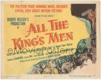 3r0658 ALL THE KING'S MEN TC 1949 Louisiana Governor Huey Long biography with Broderick Crawford!