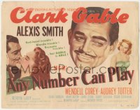3r0660 ANY NUMBER CAN PLAY TC 1949 sexy Alexis Smith is Clark Gable's new number, Audrey Totter!
