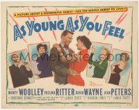 3r0004 AS YOUNG AS YOU FEEL TC 1951 sexy Marilyn Monroe, Woolley, Ritter, Jean Peters, David Wayne