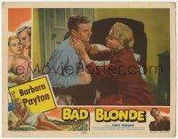 3r0999 BAD BLONDE LC #3 1953 bad girl Barbara Payton with boxer Tony Wright in bedroom!