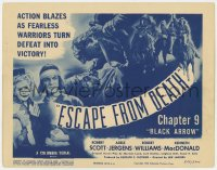 3r0681 BLACK ARROW chapter 9 TC R1955 Columbia Native American western serial, Escape From Death!